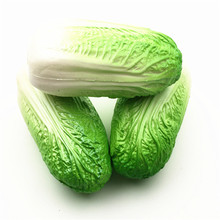 Squishy Cabbage Vegetables Squishies Slow Rising Jumbo Food font b Toys b font For Kitchen Decoration