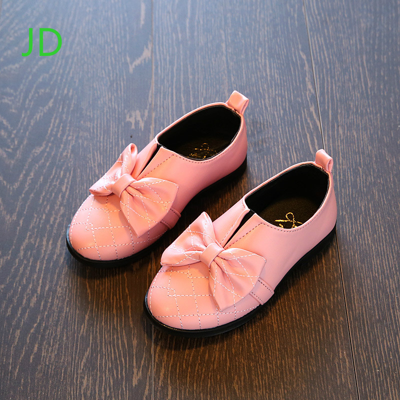 Girls Bow Princess Shoes Spring New Children Shoes Style Soft Bottom Shoes Size 21-36
