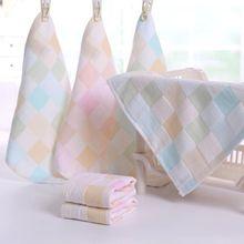 Полотенце для купания с рисунком лица для новорожденных, нагрудник для кормления, квадратное полотенце, платок, хлопковое Марлевое полотенце