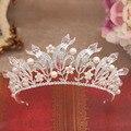 Moda luxo barroco rainha tiaras de cristal cheio de strass pérola da coroa mulheres headband do headwear nupcial do casamento acessórios para o cabelo