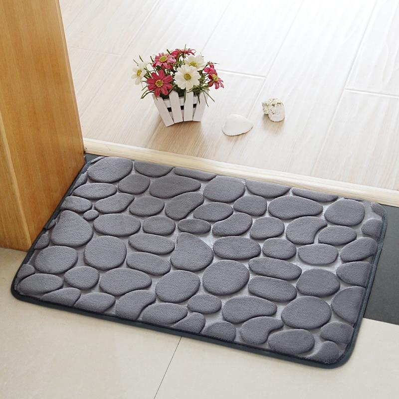 Non Slip Stone Feet Design Bathroom Toilet Doormat Kitchen Entrance Rugs  Hallway Porch Floor Carpet