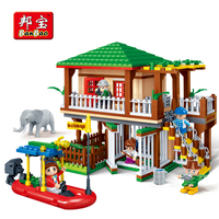 BanBao 6652 Water Channel National Zoo Park Blocks Educational Building Bricks Model Toys Kid Children Compatible With Legoe
