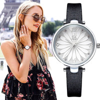 SK luxury casual couple new watch ladies fashion imitation leather watch pattern face women's watch K8047