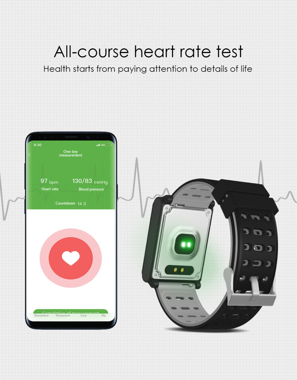 Smart Watch Bracelet N98 Color Full Screen Waterproof Fitness Tracker Clock Wristband Heart Rate Monitor Pressure For Xiaomi IOS 10