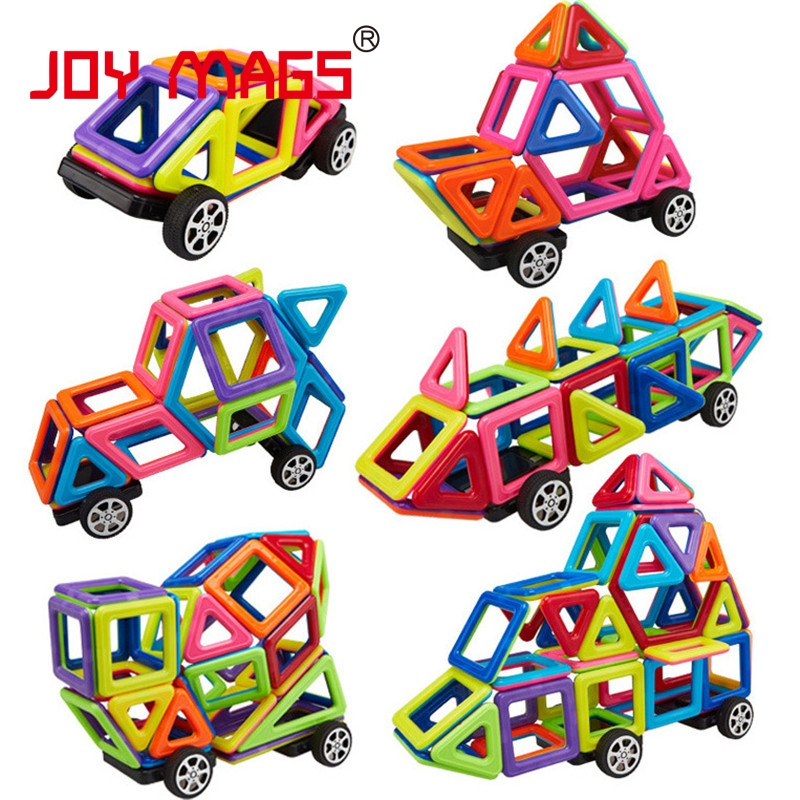 JOY MAGS Magnetic Designer Block 108 PCS Building Toy Solid Colors Plastic Model Kits DIY Educational Toys 150pcs joy mags brand magnetic tiles models blocks diy building toys inspire adult