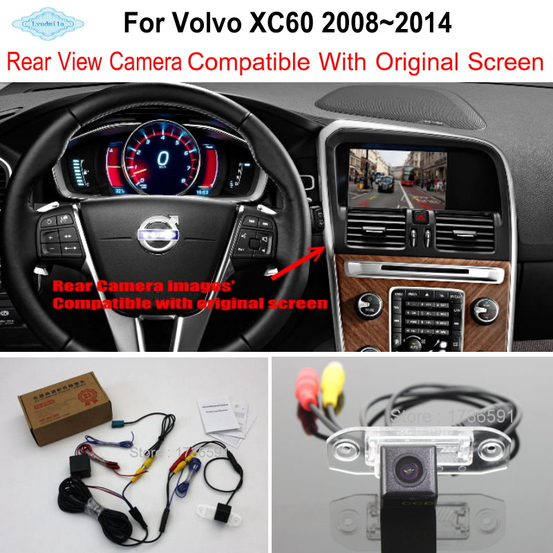 Lyudmila For Volvo XC60 XC 60 2008 2014 RCA Original Screen Compatible Car Rear View font