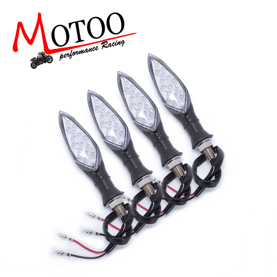 Motoo-Versandkostenfrei Universal Motorrad LED Blinker Licht Bernstein Blinker Licht 12 V Motorrad Lampe