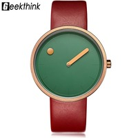 Luxury Designer Brand Quartz Watch Women Leather Casual Ladies Simple Wrist Watch Girl Clock Female Creative