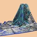 "Huajun || brand new scarf ""Maitres de la Foret"" 140 large silk scarf 100% mulberry silk twill scarf printing shawl"