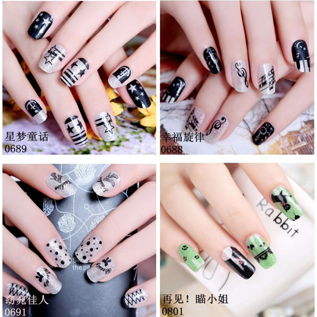 Ladies Nail Sticker Korea Gel Polish Nail Art False Nails Maquillaje