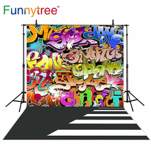 Funnytree backgrounds for photography studio graffiti cartoon road professional backdrop photocall photobooth photo prop