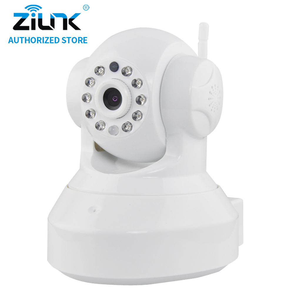 ZILNK 720P Wireless  IP Camera WiFi Security Camera Home Two way audio HD Night Vision Baby Monitor Support SD Card Onvif White