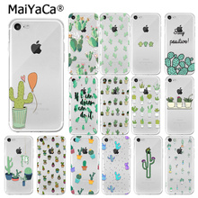 MaiYaCa Candy Color Art Cactus Plant Transparent Soft Shell Phone Case for Apple iPhone 8 7 6 6S Plus X XS MAX 5 5S SE XR Cover maiyaca colorful art african girl transparent soft shell phone case for apple iphone 7 6 6s plus x xs max 5 5s se xr 8 cover