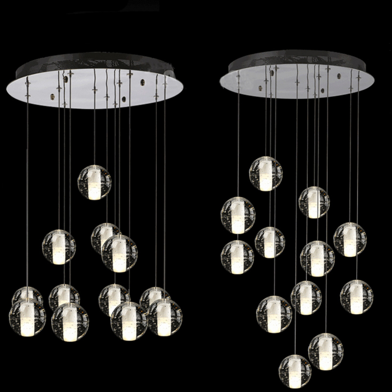 12 leuchtet moderne kristall meteor kronleuchter leuchten magische kugel l ster loft treppenhaus. Black Bedroom Furniture Sets. Home Design Ideas