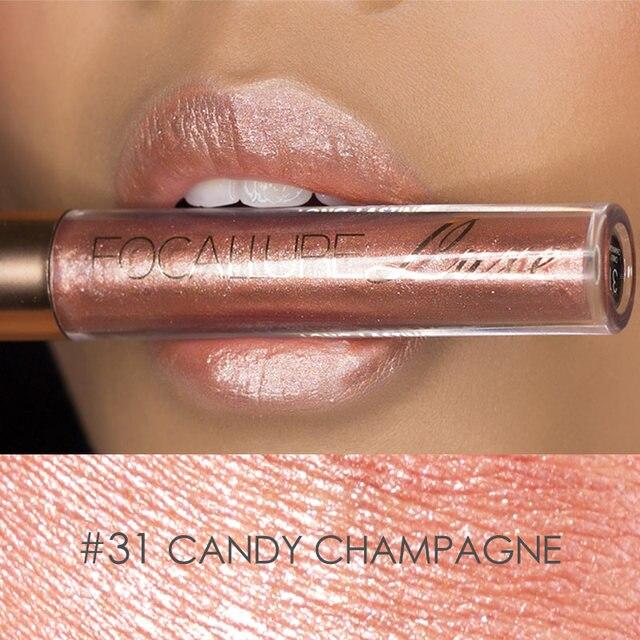 FOCALLURE Waterproof Batom Glitter Matte Lipstick Lip Stick Long Lasting Lip Gloss Beauty Cosmetic Glitter Tint Lip