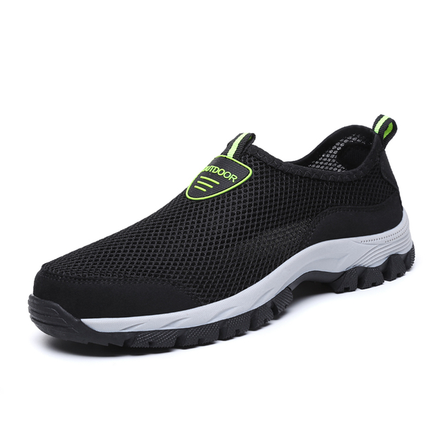 2019 Fashion Men Casual Shoes Slip-on Summer Breathable Air Mesh Men's Flats Trainers Sneaker Water Loafers Shoe Mens Big Size
