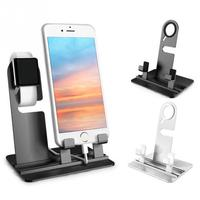 Multifunction New Aluminum Charging Dock Station Charger Holder Stand Stents For Apple Watch For Iphone 5