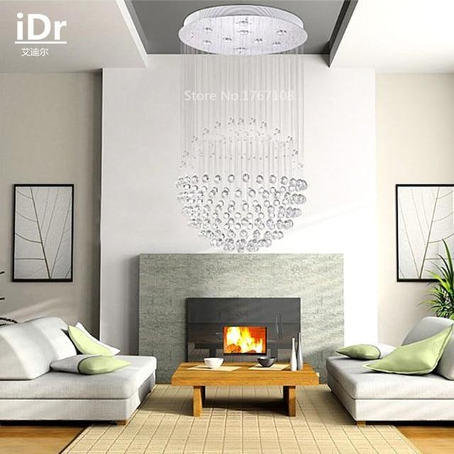 Duplex luce scale superdensa K9 lampadario di cristallo scala a ...
