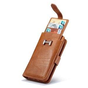 Image 1 - Haissky luxo flip caso de couro para o iphone 6 7 8 x carteira caso da aleta para o iphone 6 7 8 plus slots de cartão capa do telefone coque capa