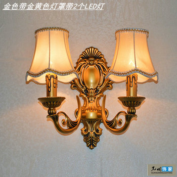Fashion antique lighting bedroom bedside lamp mirror light stair corridor lights double slider tieyi candle wall lamp