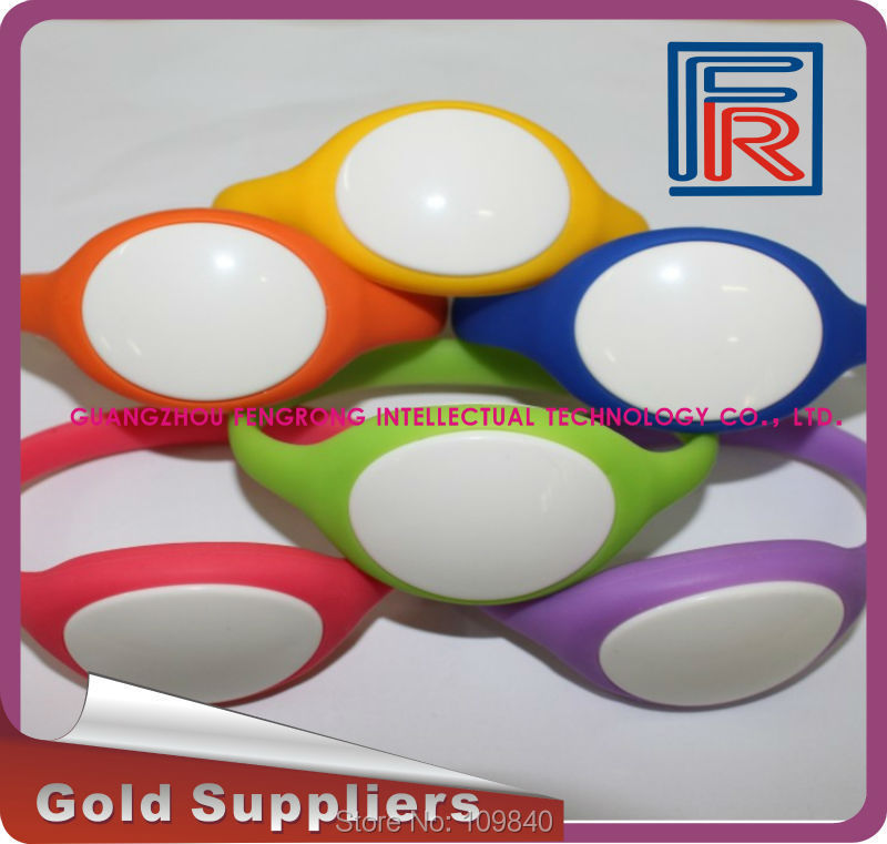 13.56Mhz RFID Bracelet Wristband MF1KS50 Proximity Waterproof Silicone for access control/swimming pool/Fitness/event