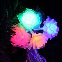 Amour Rose Guirlande LED 7.5 M-10 M 50 70 100 Led lumière de nuit Rose Fleur UE Plug 220 V étanche Partie De Mariage De Noël décor UR