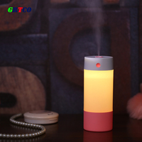 250ML Air Ultrasonic Humidifier Water Mist Maker Fogger Diffuser With Warm White Night Light For Car