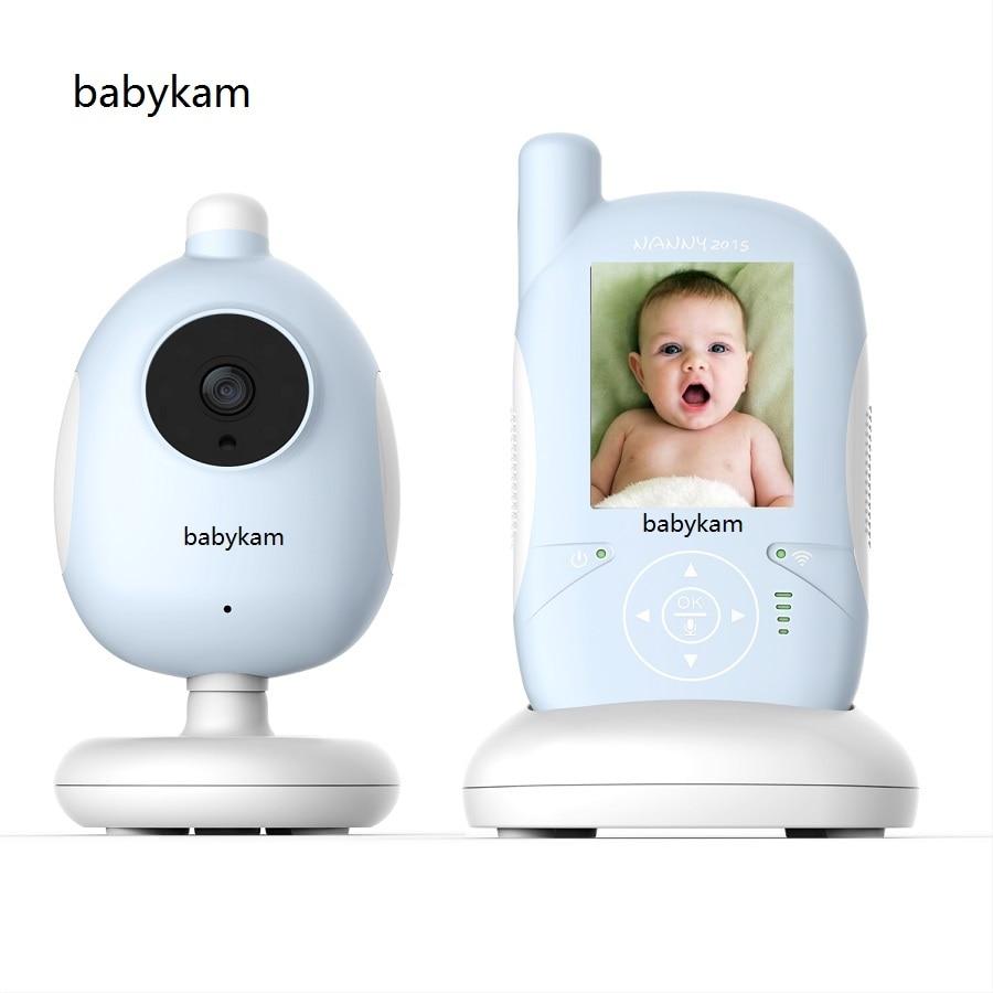 Babykam digital baby monitor video 2.4 inch LCD IR Night vision Lullabies Temperature Monitor Feeding Alarm radio baby monitor