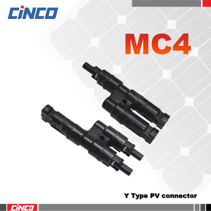 1 пара x мульти т филиал MC4 разъем для солнечной панели параллельное соединение филиал два pv Модуль панель подключатель солнечной панели системы