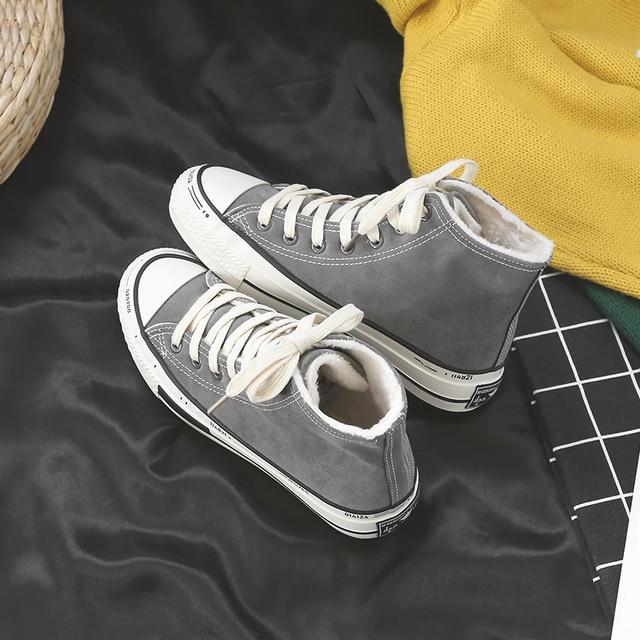 플러스 농축 autumn winter 야외 레저 Women boots flat 힐 ankle boots 눈 신발쏙 ~ 2018