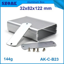 10 pieces a lot, silver small aluminum instrument housing heatsink control case 32*82*122mm