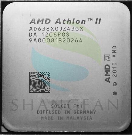 AMD Athlon II X4 638 X4-638 2.7 GHz Quad-Core CPU Processeur AD638XOJZ43GX Socket FM1