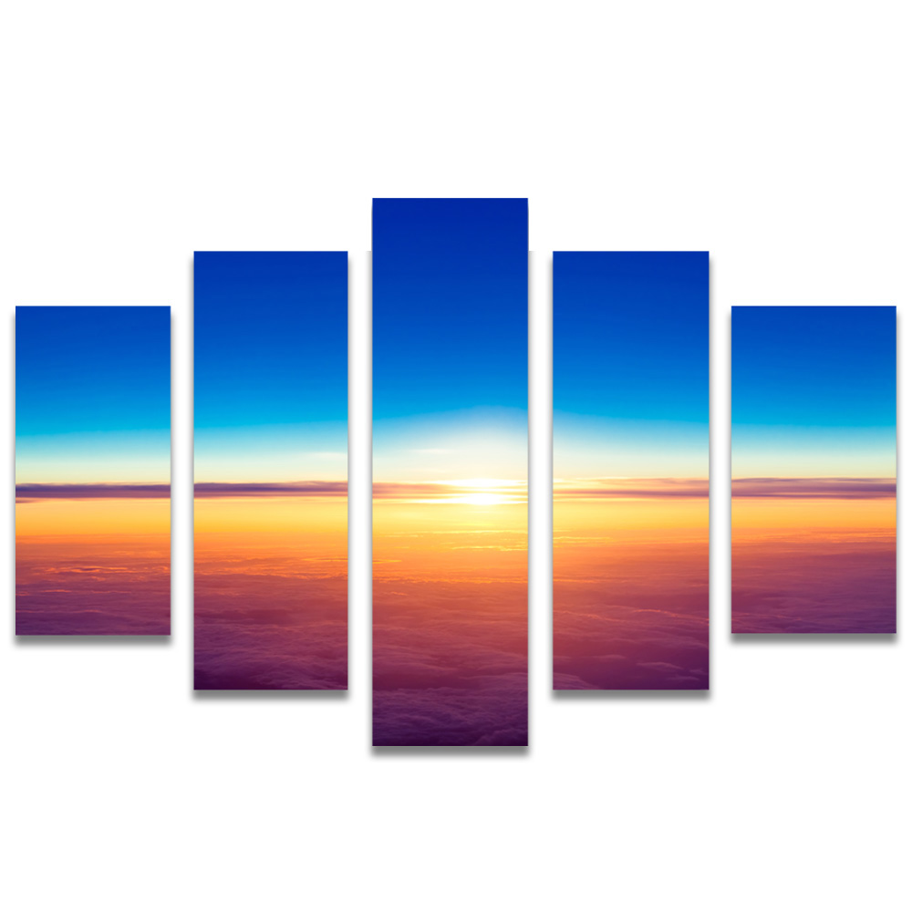 Unframed Canvas Painting Skyline Sunlight Clouds Photo Picture Prints Wall Picture For Living Room Wall Art Decoration