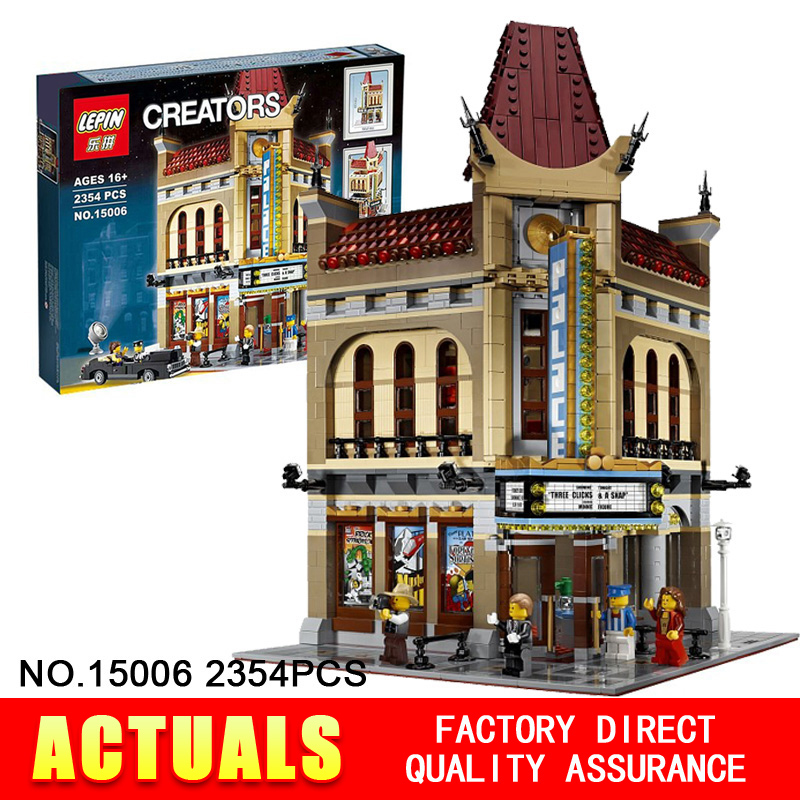 2016 New font b LEPIN b font 15006 2354pcs Creator Palace Cinema Model Building Blocks set