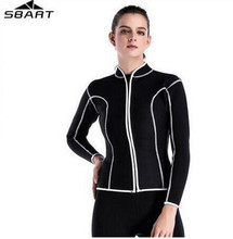 SBART 2MM Neoprene Women Scuba Jacket Diving Suits Wetsuits Snorkeling Surfing Rash Guards Equipment Long Sleeves