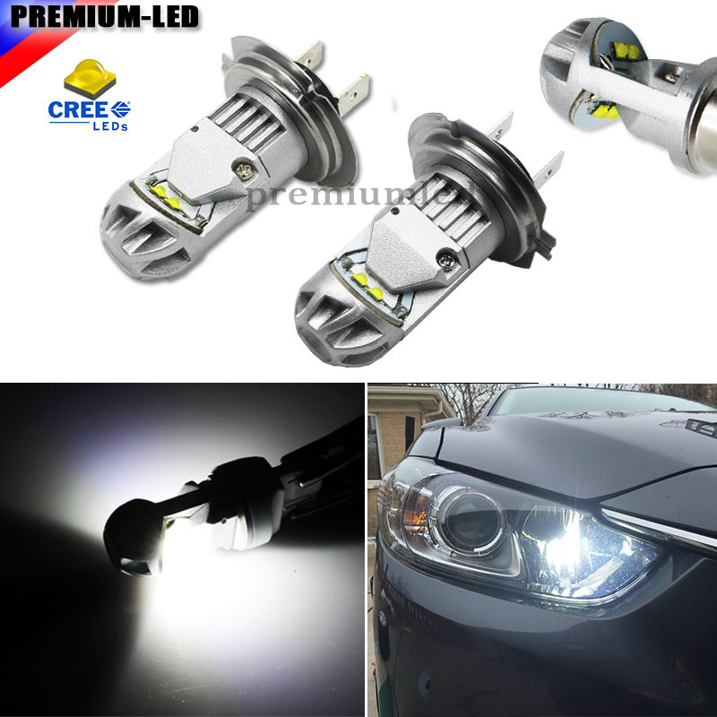 iJDM Max 20W High Power XBD Type H7 LED Bulbs For Hyundai Genesis Sonata Veloster Accent on High Beam Daytime Running Lights 2pcs high power samsung 2835 smd h7 led bulbs for hyundai genesis sonata veloster accent on high beam daytime running lights