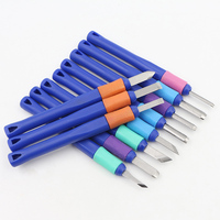The Cheapest 11pcs Carving Knife Rubber Carving Knife Plastic Handle Combination Wood Carving Knife