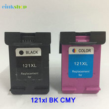 2Pcs Ink Cartridge 121 For HP HP121 Deskjet D2563 F4283 F2423 F2483 F2493 F4213 F4275 F4583