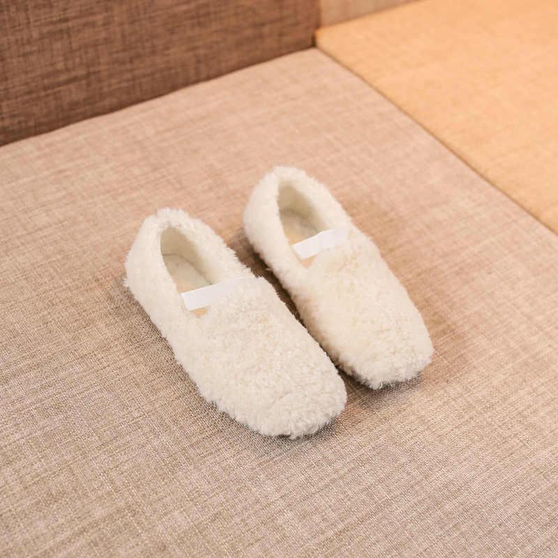 Halozeroo новые зимние для маленьких девочек меха черная обувь Малыш мягкие Лоферы модные детские теплые Туфли без каблуков бренд туфли принцессы детские мокасины