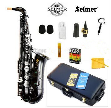 New France alto saxophone SELMER 54 E-flat alto saxophone musical pearl black professional shipping france selmer 54 e flat alto saxophone instruments matt black nickel and gold professional performance