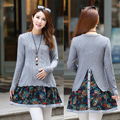 New maternity dress long sleeve knit clothes A dress for pregnant women in spring and Autumn