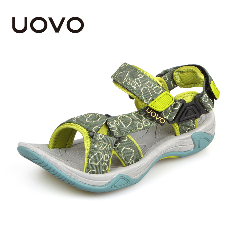 UOVO Brand 2018 Fashion Kids Summer Sandals For Boys Children Sandals Beach Shoes High Quality Boys Sandals Orthopedic