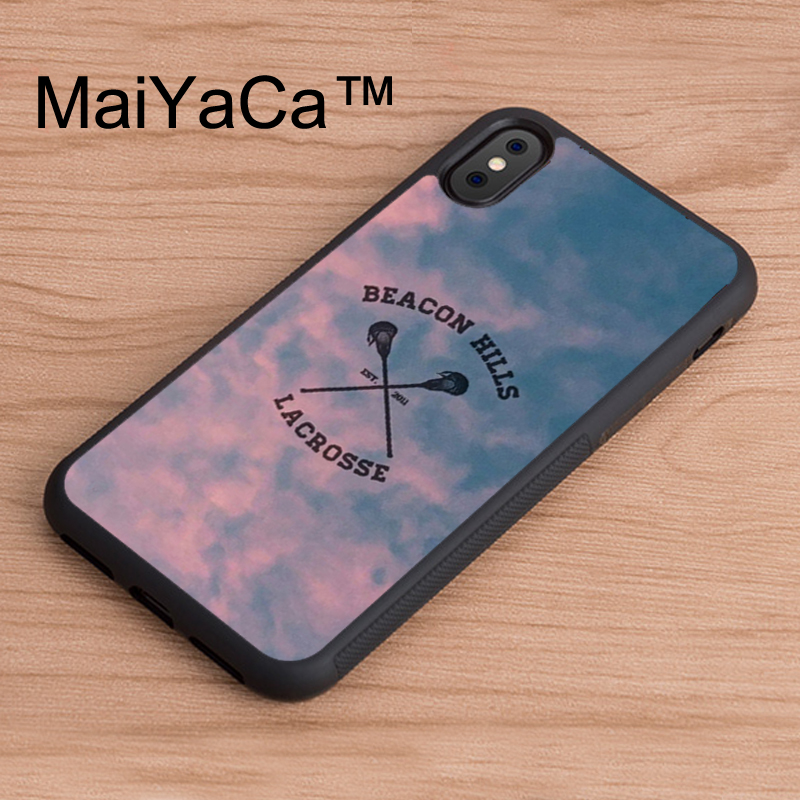 MaiYaCa Beacon Hills Cyclones Teen Wolf Printed Back Phone Case For iPhone X Soft TPU Case For iPhone X Cover Protective Shell