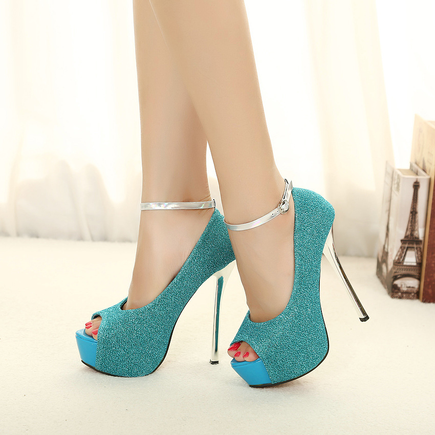 Online Buy Wholesale powder blue high heels from China powder blue