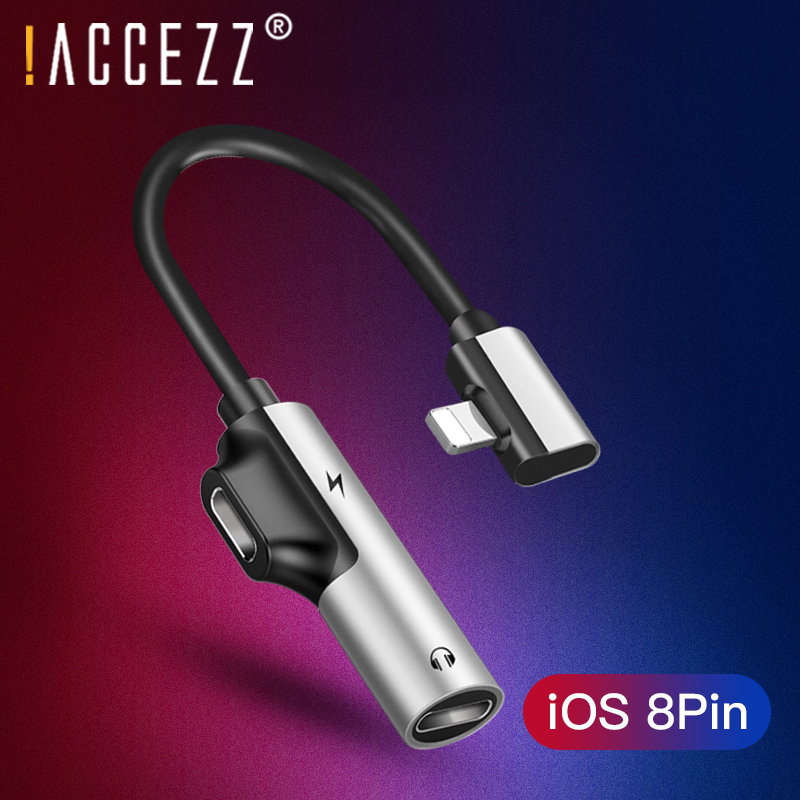 !ACCEZZ Phone Adapter For Apple Charging Calling For Iphone X 8 7 Plus XS MAX XR Audio Earphone AUX Splitter Adapter Connector