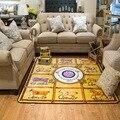 Modern h marca caballo carpet 195x200 cm antideslizante grandes alfombras de estilo