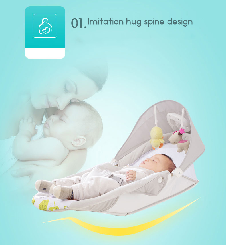 Baby rocking chair child electric cradle baby crib recliner chair with  shaking sound baby artifact sleepy bed newborn bed