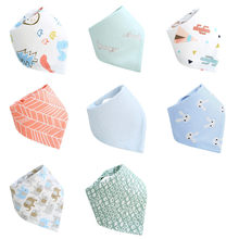 2019 Baby Bibs Stuff Baberos Cotton biberon Baby Boys Girls Bandanas Bebes High Quality Saliva Towel Dribble Bandana Bibs(China)