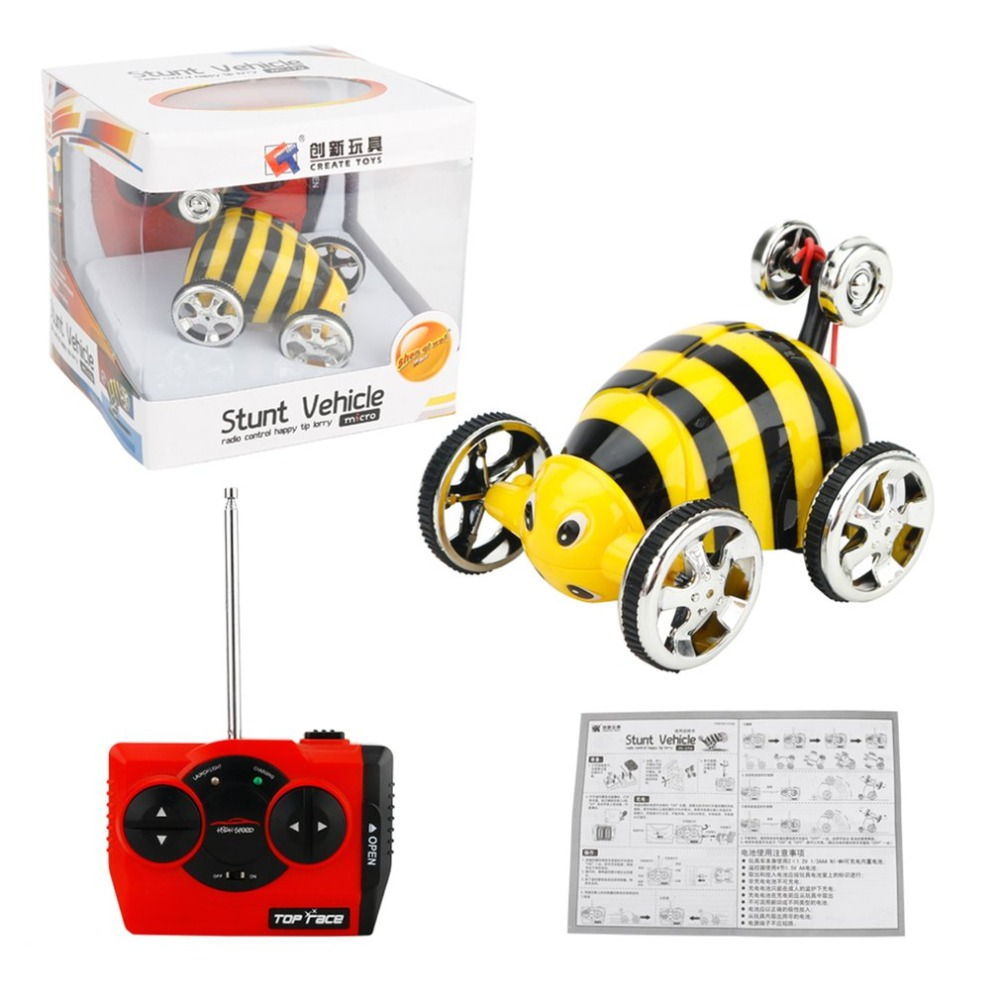 Create Toys 2152B 2CH Mini Stunt Toggle Trolley Radio Control Rolling RC Car 360 Rotation Stunt Flip Car for Kids radio-controlled car