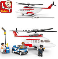 Candice guo Plastic toy building model game birthday gift assemble Aviation helicopter car airplane plane christmas present 1pc